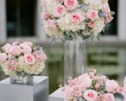 Сватбена украса в розово