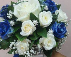 Сватбена украса в синьо