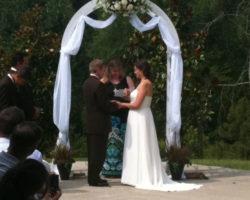 Сватбена украса в бяло